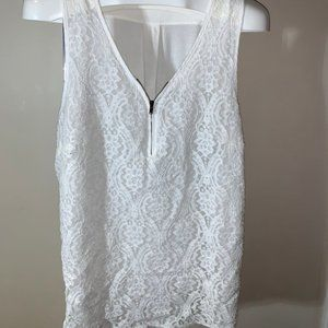 Maurices Lace Front Zip Tank